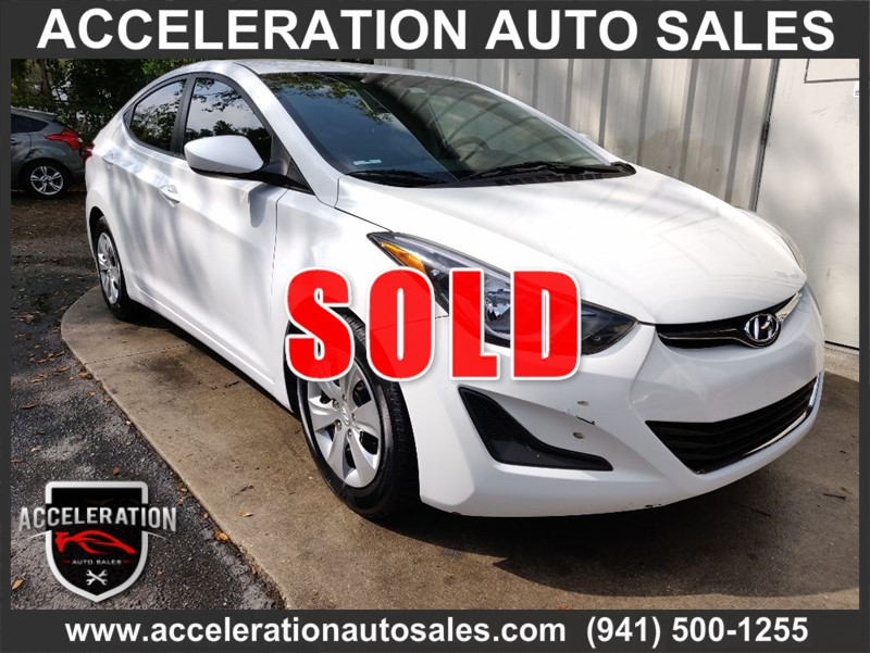 2016 HYUNDAI ELANTRA, Stock No: 10019 by Acceleration Auto
